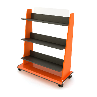 Custom-designed book trolleys